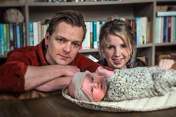 Susanne Koetsier, Simon Jansen, Elle Romee foto: Wim Goedhart