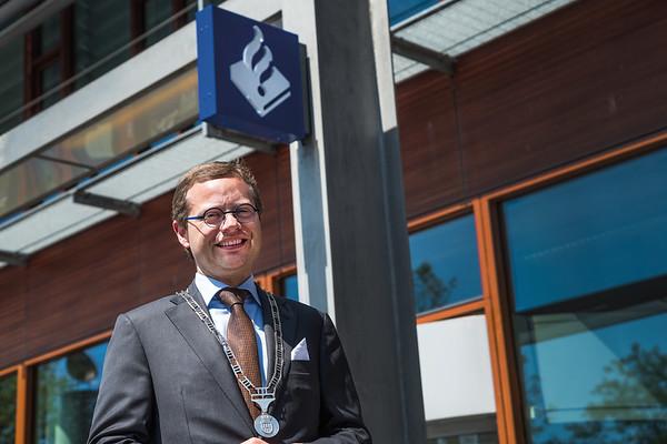 Burgemeester Richard Korteland van Meppel.