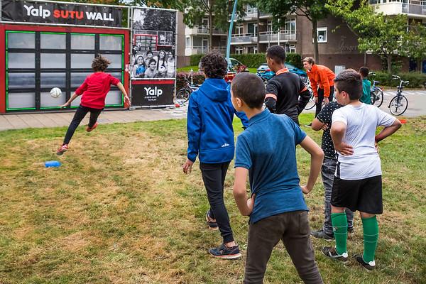 Nationale Sportweek, voetbal Troelstraplein, Meppel.