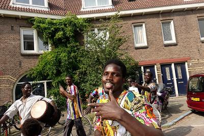 Nederland, Amsterdam, 2o juni 2017, buurtfeest ter gelegenheid van de renovatie van de van der Pekbuurt, foto: Katrien Mulder