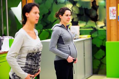 OKC de Kikke, zwangerschaps gym, 9 maart 2015, foto: Katrien Mulder