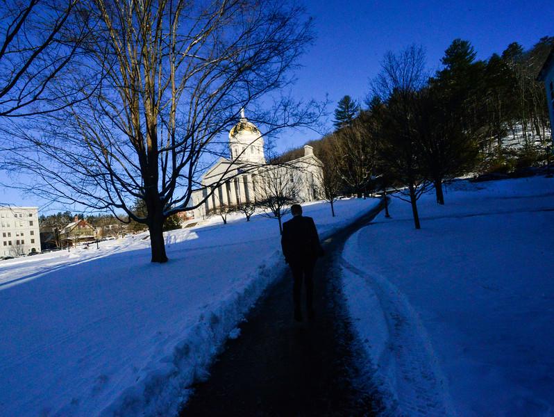 KRISTOPHER RADDER — BRATTLEBORO REFORMER<br /> A cold day at the Vermont State House, in Montpelier, Vt., as Gov. Phil Scott addresses the legislators on Thursday, Jan. 9, 2020.