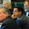KRISTOPHER RADDER — BRATTLEBORO REFORMER<br /> Rep. Nader Hashim, Windham-4, listens during a committee meeting about gun owner rights and domestic abuse at the State House, in Montpelier, Vt., on Thursday, Jan. 9, 2020.