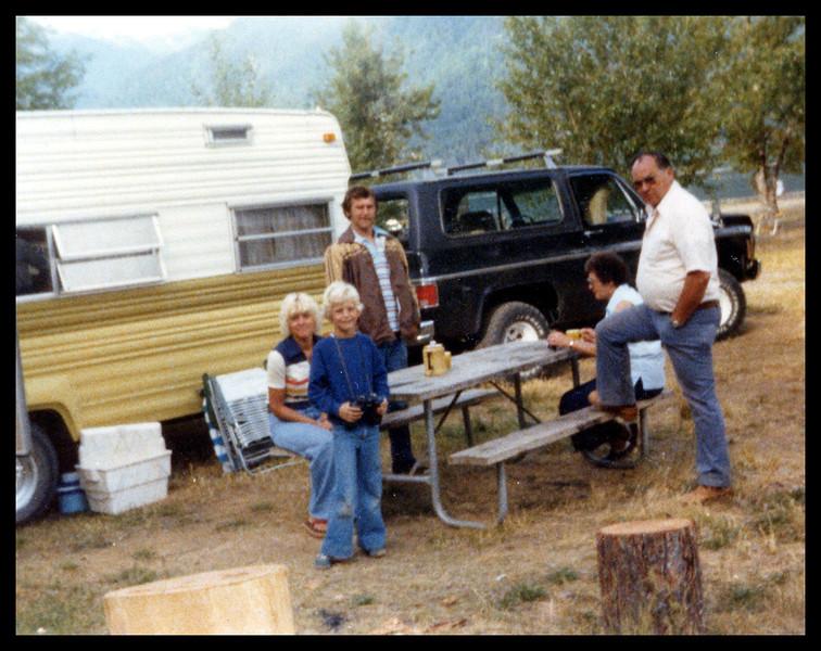 Mom, Me, Dad, Grandma and Grandpa Camping