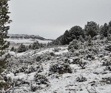 Snow and Absaroka Mountain Range