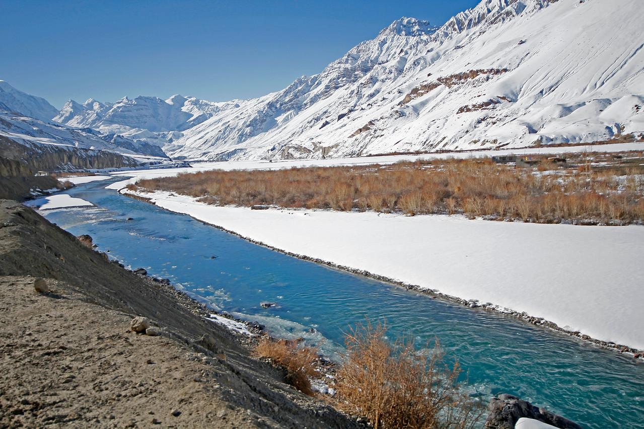 Meandering Spiti River