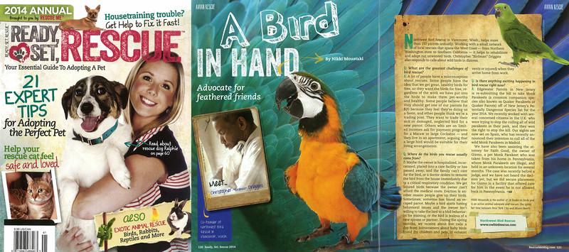 2014 Birdman magazine article Ready Set Rescue  2014