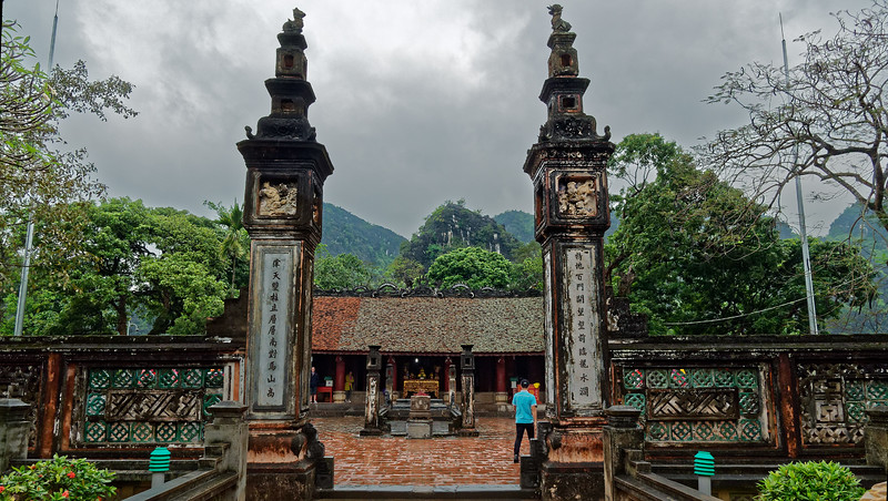 Entrance to the main courtyard at Dinh Temple