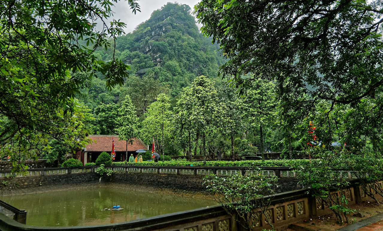 The grounds inside Dinh Temple