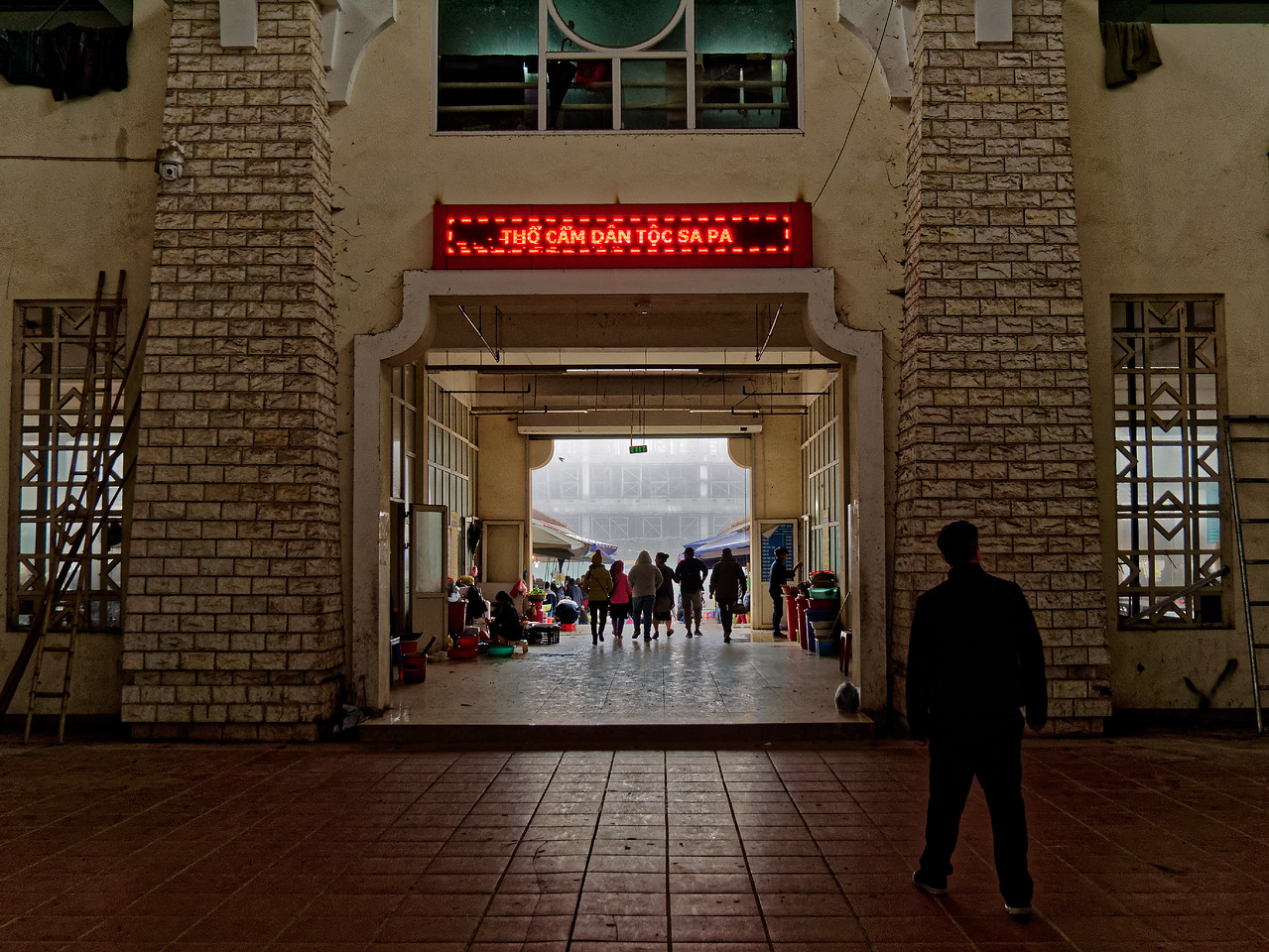 The entrance to Sapa's market