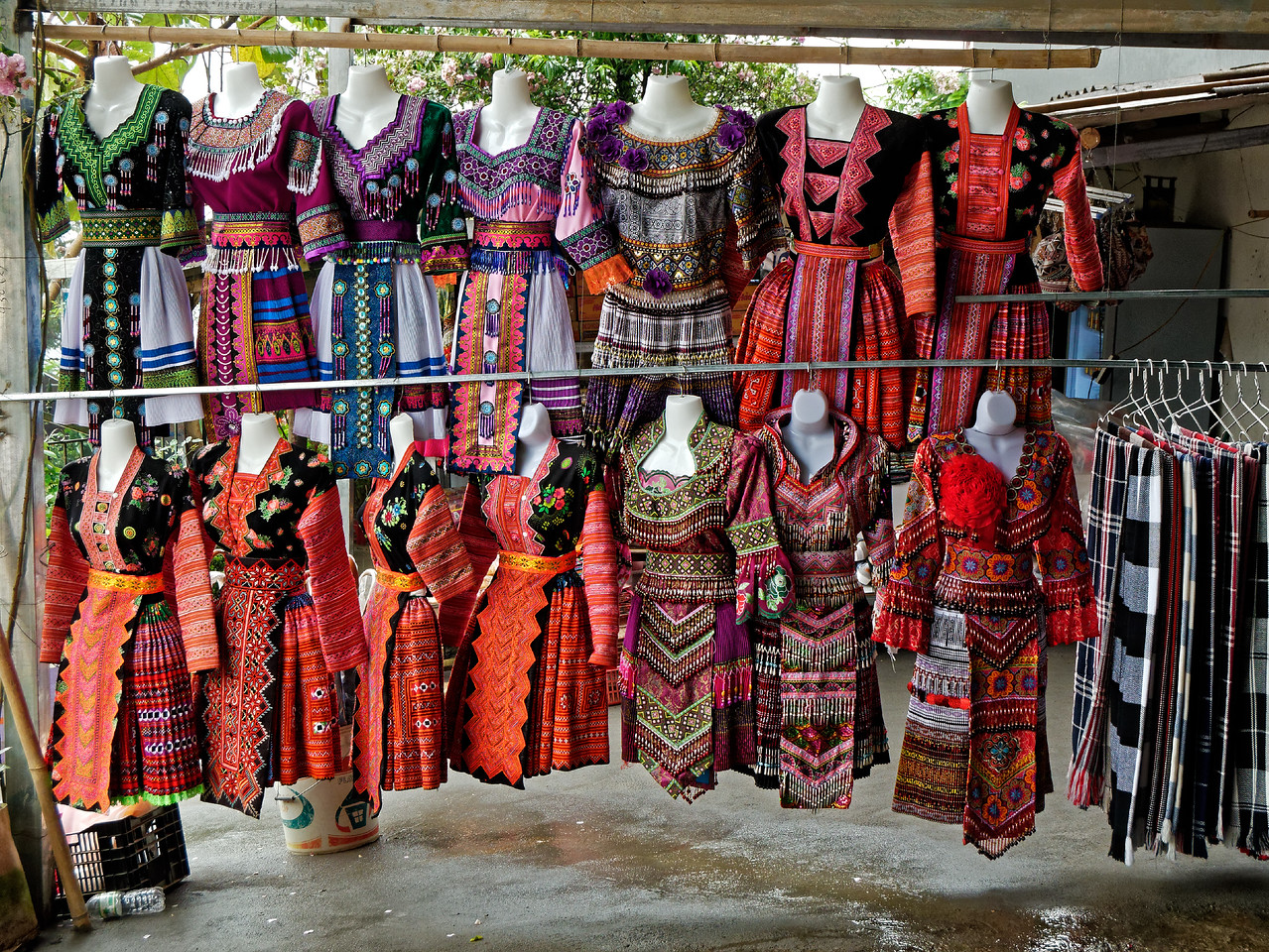 Hmong hill tribe dresses for sale or for rent