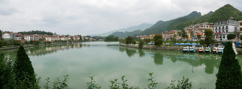 Panoramic view of Sapa's lake