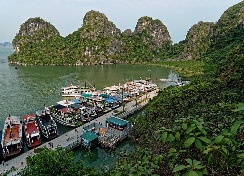 The wharf at Dau Go Island, in southwest Halong Bay