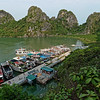 The wharf at Dau Go Island, in southwest Halong Bay