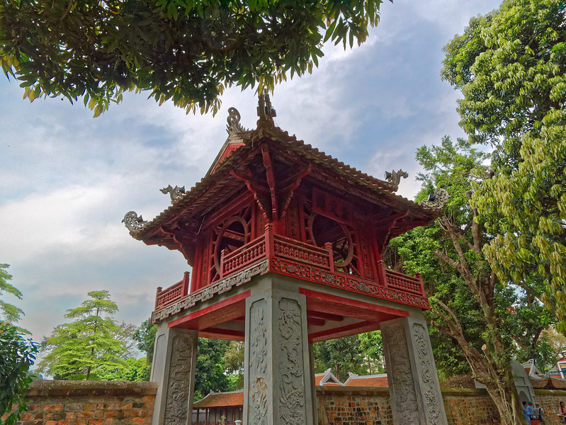 An interior entry pavilion at the Temple of Literature