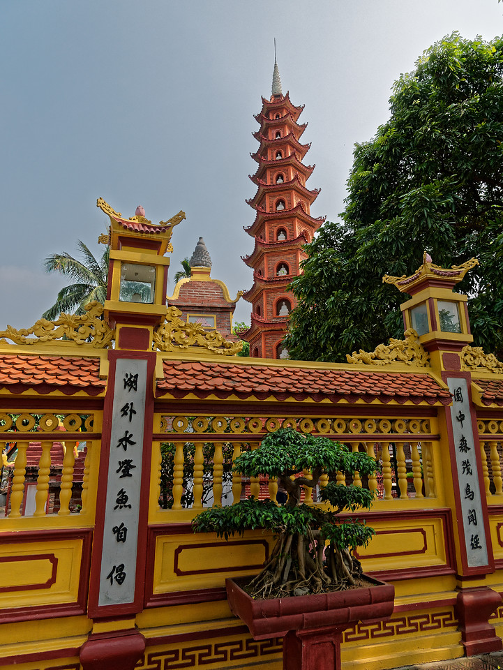 Tran Quoc Pagoda was rebuilt in the 15th century and again in 1842.