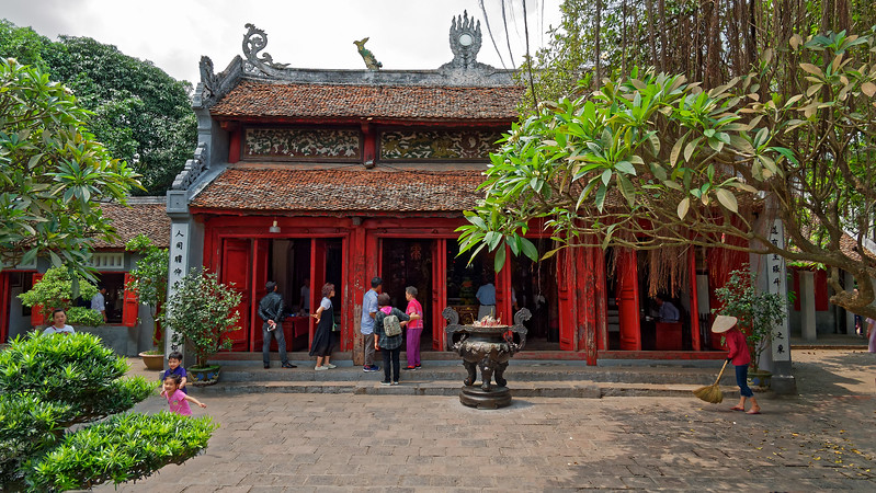 A main temple building at Ngoc Son Temple