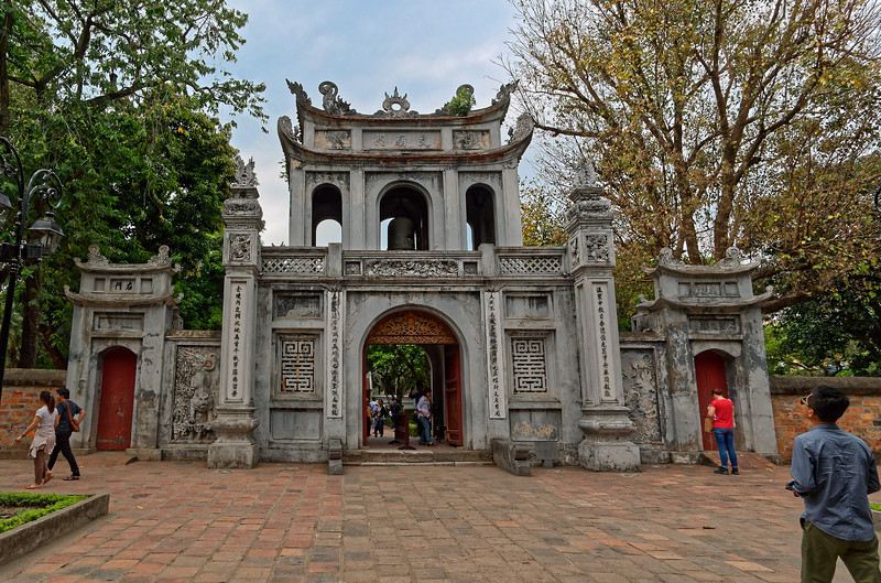 The Temple of Literature is the site of the oldest university in Vietnam. Dating from the year 1070, it was dedicated to Confucius and to scholars and sages.