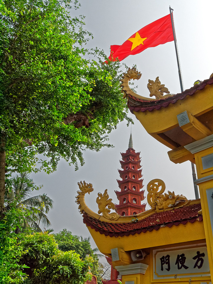Tran Quoc Pagoda, on the eastern shore of Hanoi's West Lake (Ho Tay), is the city's oldest Buddhist temple and one of the oldest pagodas in Vietnam, possibly dating from as far back as the 5th century.