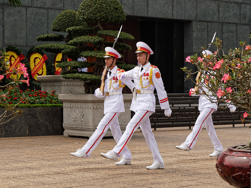 Military guard at the Ho Chi Minh Mausoleum