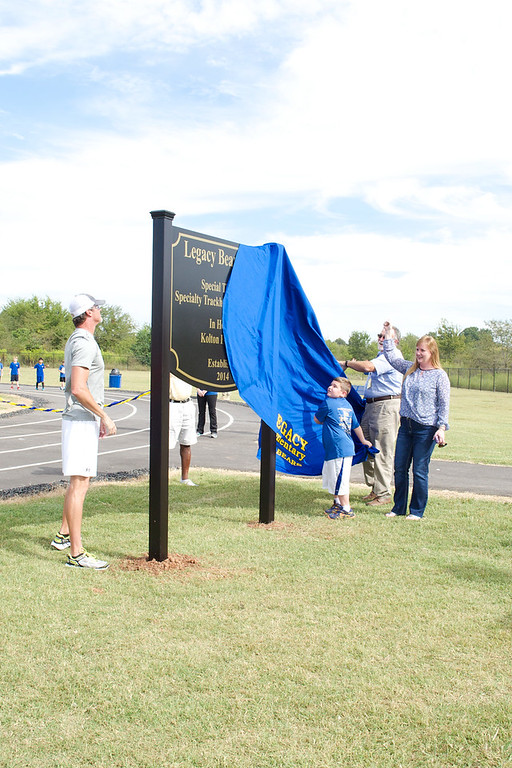 Legacy's Ribbon Cutting for the Track - 6.2014