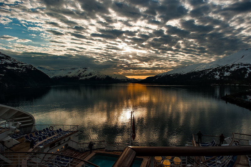 Cruise Ship Deck; Whittier, AK