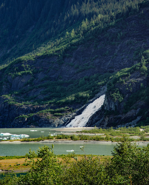 Waterfall at Mendenhall Glacier, Juneau, AK