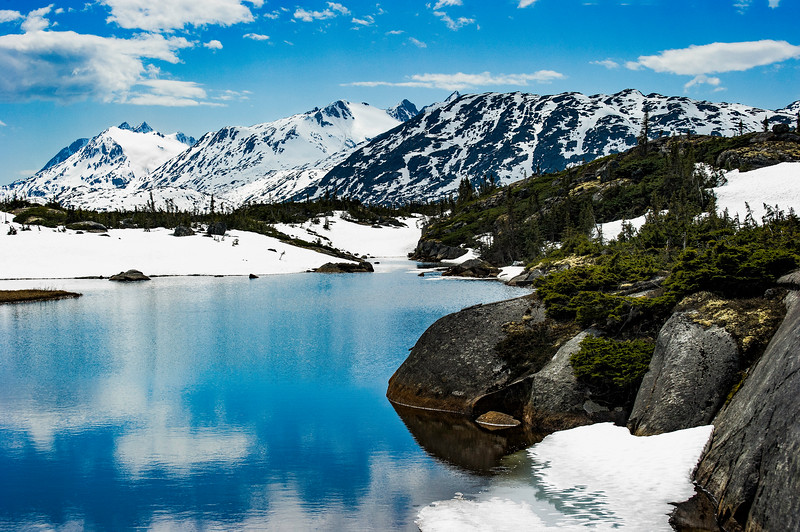 Snow Capped Mountain reflecting in water