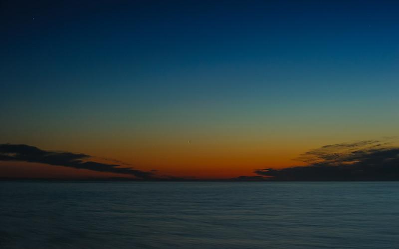 Sunset over Gulf of Alaska