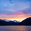 Sunrise on the Inside Passage; AK