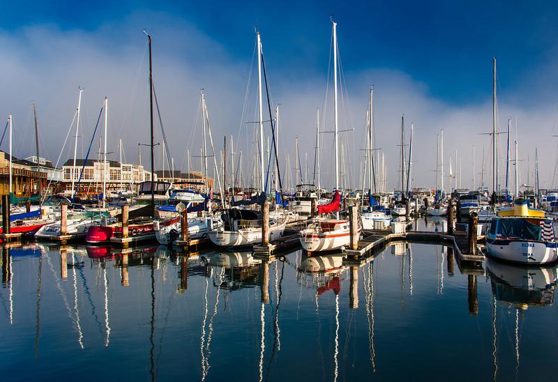 Sailboat Basin; Fisherman's Wharf; San Francisco, CA