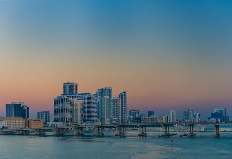 Miami Skyline from Port of Miami
