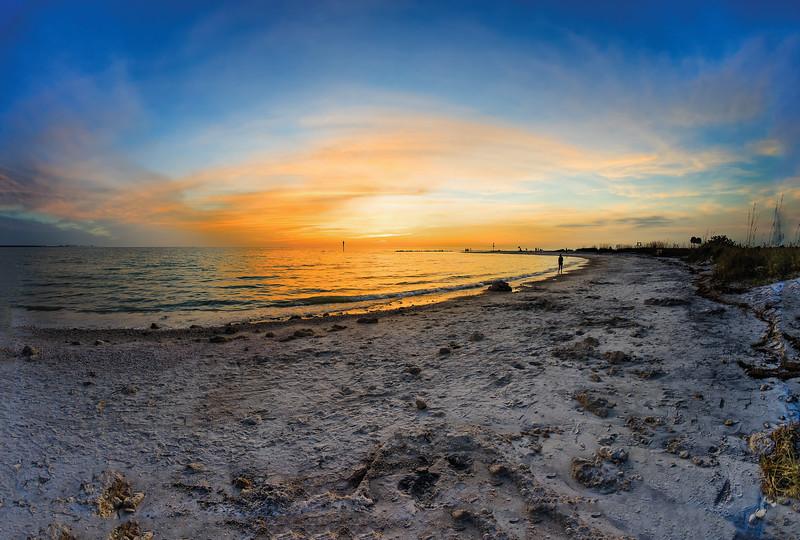 Florida Gulf Sunset Panoramic