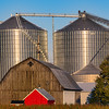 Barn and Granary in Tuscola County, Michigan