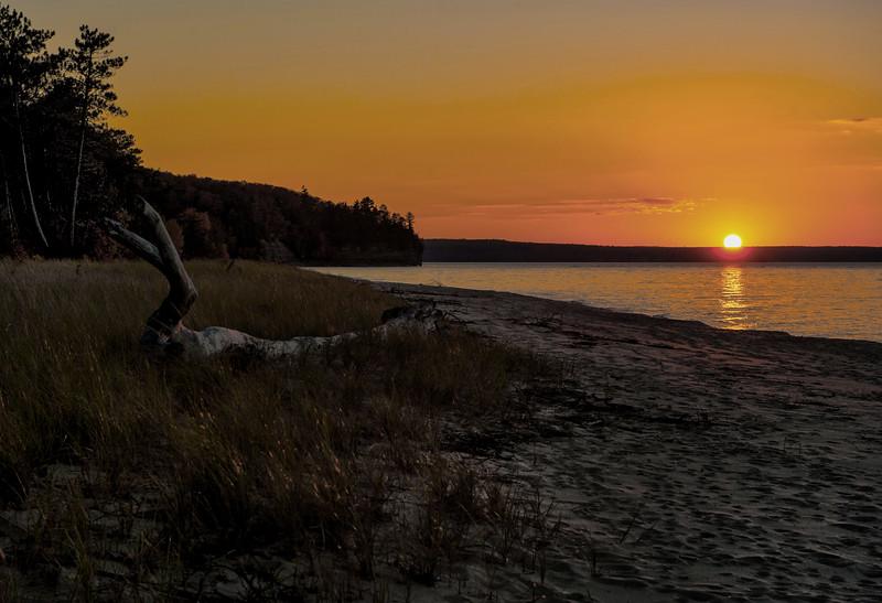 Lake Superior Sunset; Miner's Beach; Pictured Rocks National Lakeshore