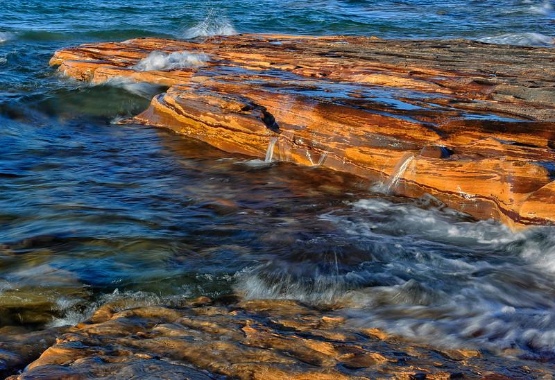 Sandstone Ledges on Lake Superior, Grand Marais, Michigan