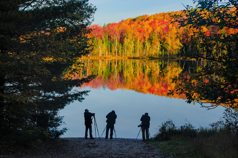Photographers at Red Jack Lake