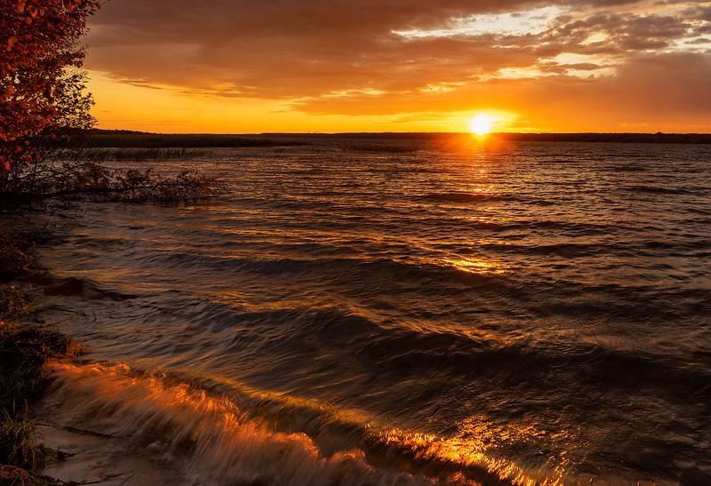 Sunset; Little Bay DeNoc; Stonington, Peninsula, MI
