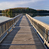 Pete's Lake Fishing Pier; Hiawatha NF