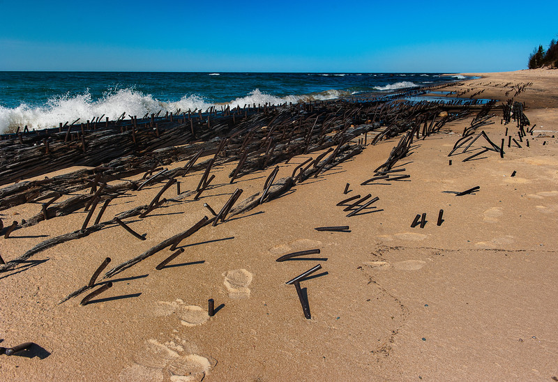 Shipwreck Timbers, Lake Superior Shoreline, Michigan U.P.