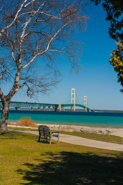 Gateway to the U.P.; Mackinac Bridge; Mackinac City, Michigan
