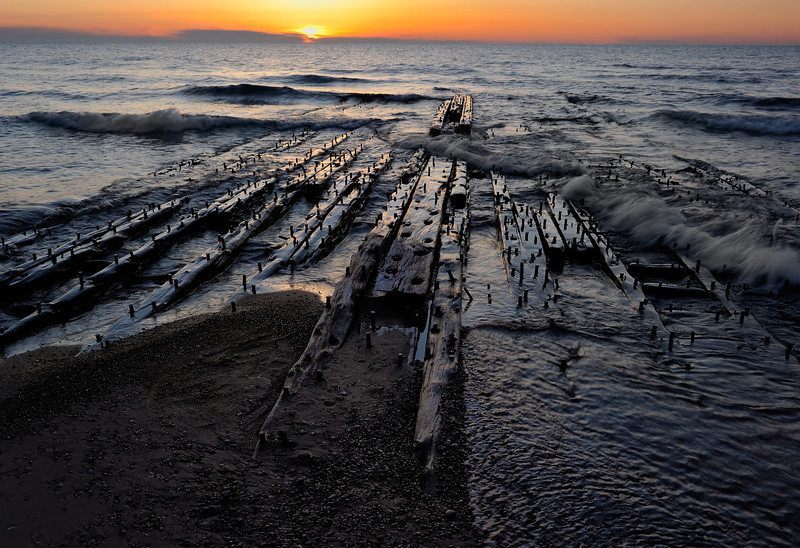Shipwreck Timbers, Lake Superior Shoreline, Michigan U.P.