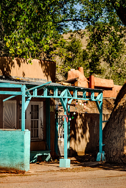 Adobe and Pastel Blue, Madrid, New Mexico