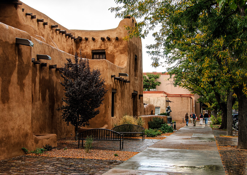 Adobe on the Plaza, Santa Fe, New Mexico