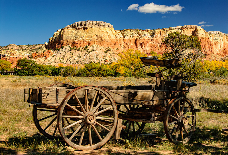 Wagon, Ghost Ranch, New Mexico