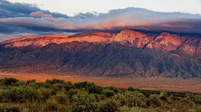 Sandia Mountain Sunset, Albuquerque, New Mexico