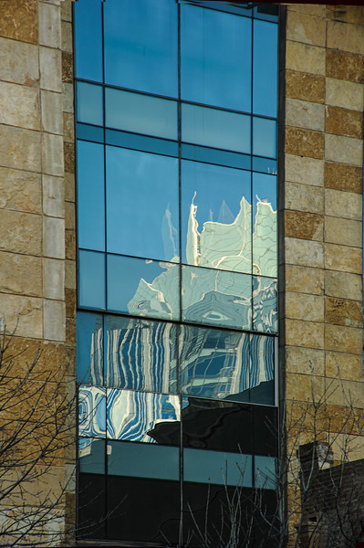 Reflection, downtown Austin, Texas