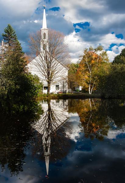 Church Reflection; Newfane, Vermont