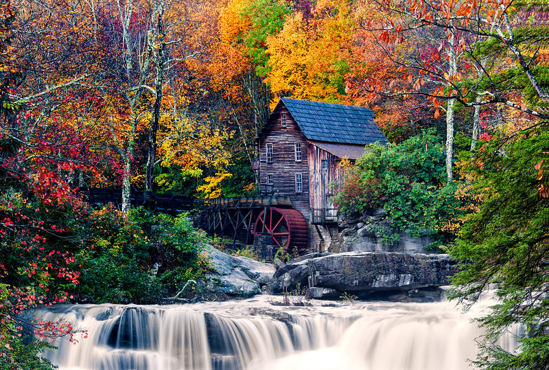 Glade Creek Gristmill; Babcock State Park