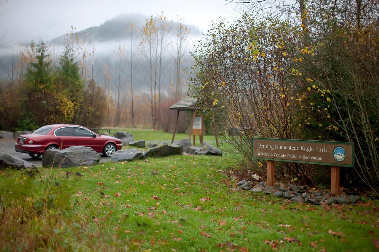 Parking and entrance for Deming Eagle Homestead Park